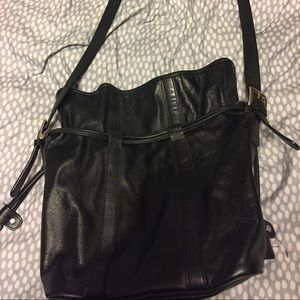 Talbots leather draw string purse